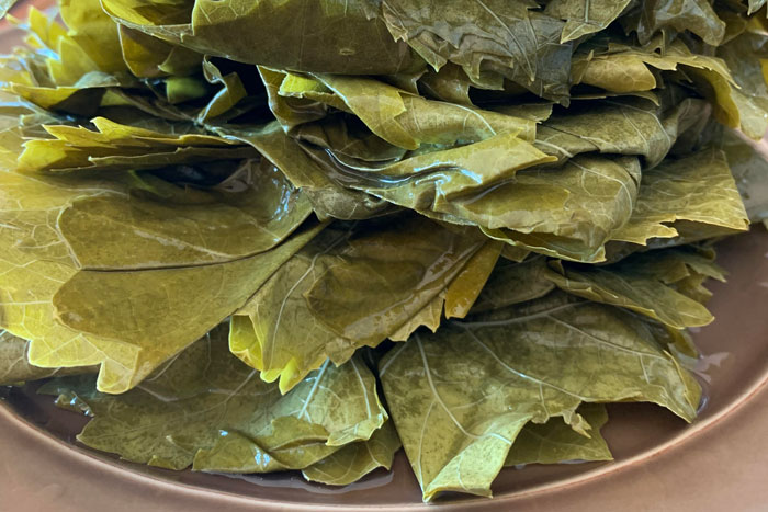 I made my husband grape leaves, and…